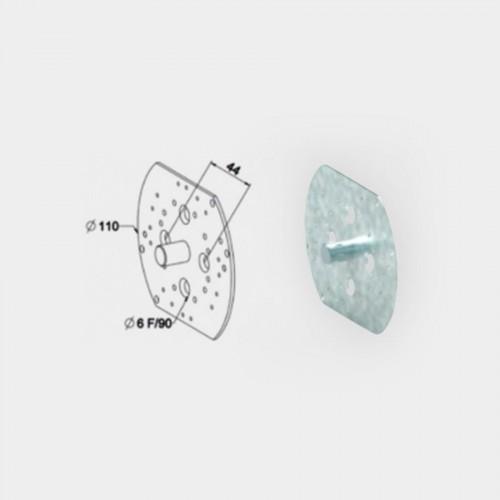Plaque d'adaptation refouillement réduit à tourillon 12 mm