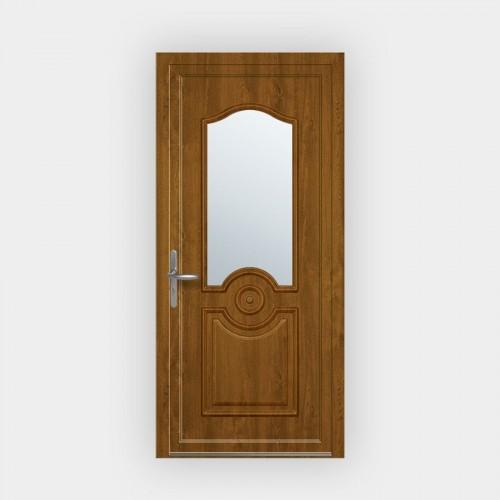 Porte d'entrée en PVC Carissa vitrée