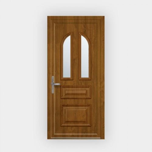 Porte d'entrée en PVC Janella vitrée