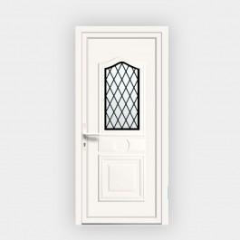 Porte d'entrée en PVC Athena 9 vitrée décor