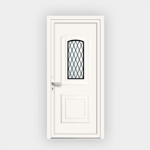 Porte d'entrée en PVC Granada 17L vitrée décor