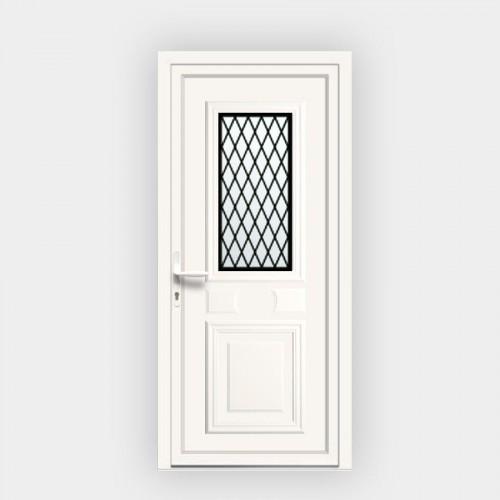 Porte d'entrée en PVC Provencia 51 vitrée décor