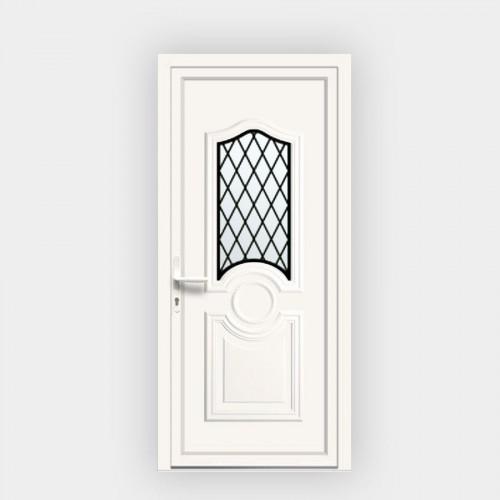 Porte d'entrée en PVC Celia 6 vitrée décor