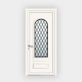 Porte d'entrée en PVC Ixelia 81 vitrée décor