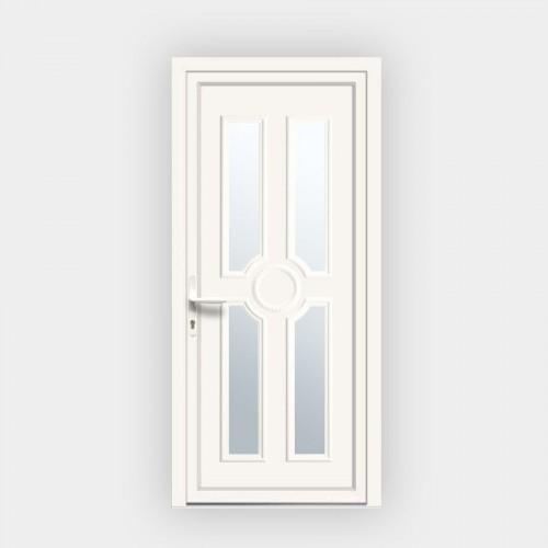 Porte d'entrée en PVC Titia 21 vitrée