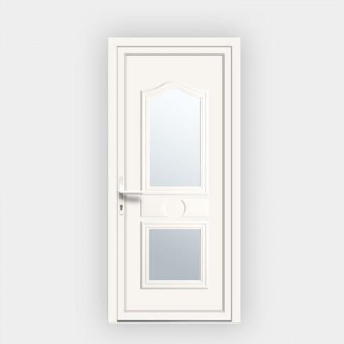Porte d'entrée en PVC Athena 10 vitrée