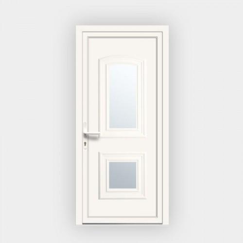 Porte d'entrée en PVC Granada 18L vitrée