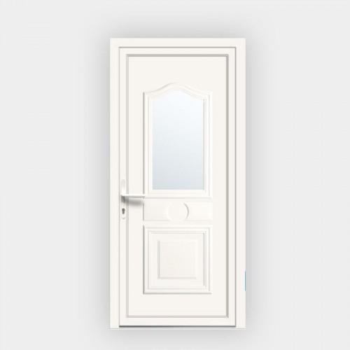 Porte d'entrée en PVC Athena 9 vitrée