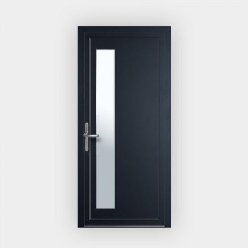 Porte d'entrée en PVC 766 vitrée