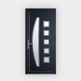 Porte d'entrée en PVC 1828 vitrée