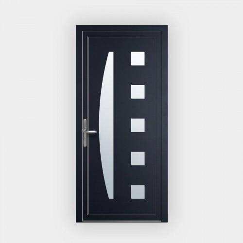 Porte d'entrée en PVC 551-4 vitrée