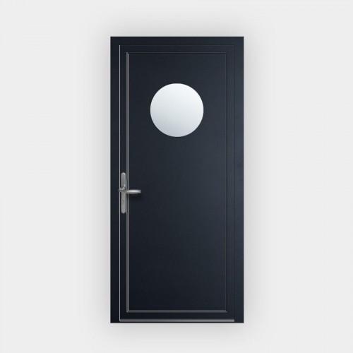 Porte d'entrée en PVC 76 vitrée