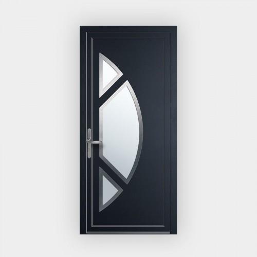 Porte d'entrée en PVC 2611 vitrée