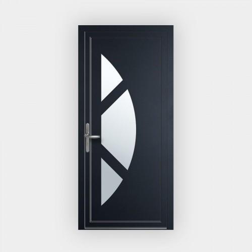 Porte d'entrée en PVC 7003 vitrée