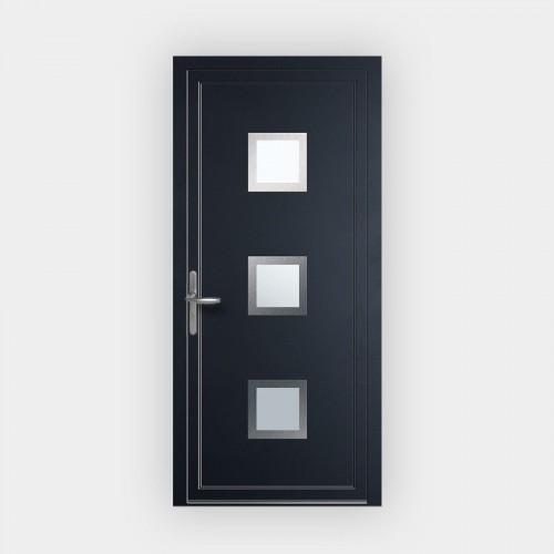 Porte d'entrée en PVC 124-9 vitrée