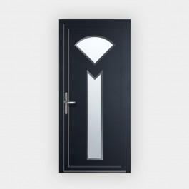 Porte d'entrée en PVC 686-2 vitrée