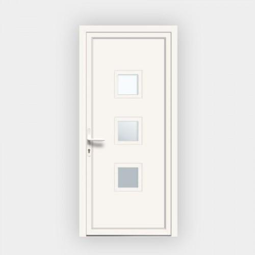 Porte d'entrée en PVC 124-3 vitrée