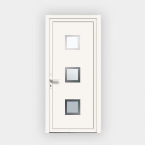 Porte d'entrée en PVC 4843 vitrée
