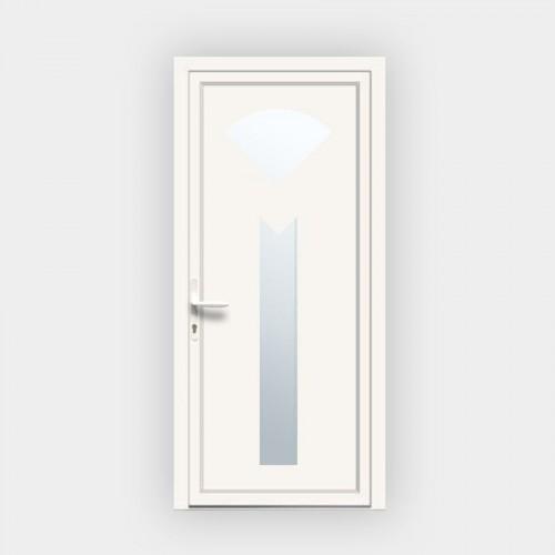 Porte d'entrée en PVC 686 vitrée