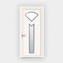 Porte d'entrée en PVC 686-3 vitrée