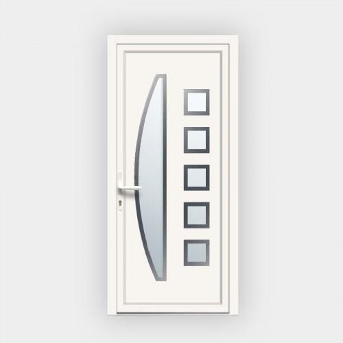 Porte d'entrée en PVC 7165 vitrée