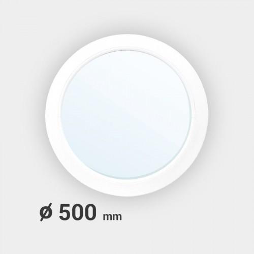 Oeil de boeuf rond fixe PVC ø 500 mm