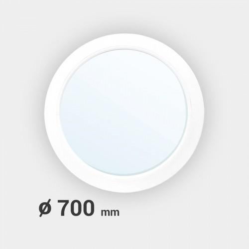 Oeil de boeuf rond fixe PVC ø 700 mm