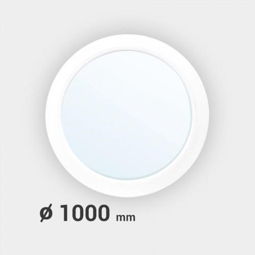 Oeil de boeuf rond fixe PVC ø 1000 mm