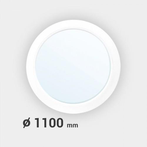 Oeil de boeuf rond fixe PVC ø 1100 mm