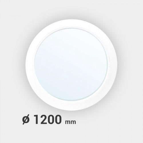 Oeil de boeuf rond fixe PVC ø 1200 mm
