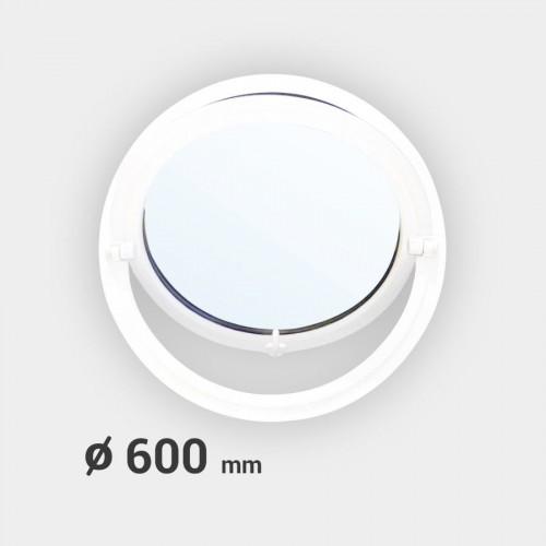 Oeil de boeuf rond basculant PVC ø 600 mm