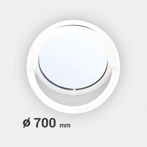 Oeil de boeuf rond basculant PVC ø 700 mm