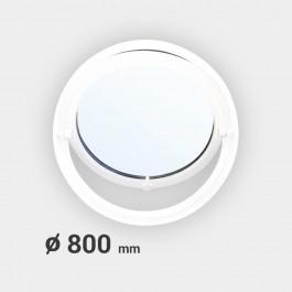 Oeil de boeuf rond basculant PVC ø 800 mm