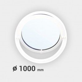 Oeil de boeuf rond basculant PVC ø 1000 mm