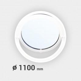 Oeil de boeuf rond basculant PVC ø 1100 mm