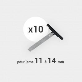 Lot de 10 attaches tablier pour lame de 11 à 14 mm
