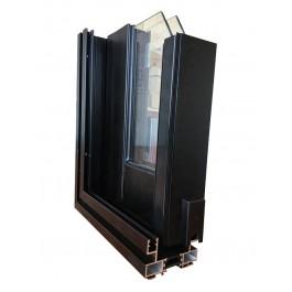 Profil ALU baie vitrée 2 vantaux