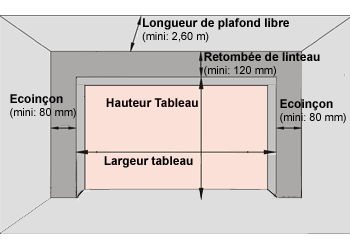 Indication des dimensions minimum à l'achat d'une porte sectionnelle