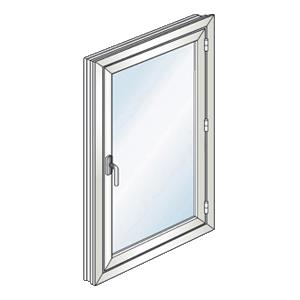 Une fenêtre 1 ouvrant à la française Gefradis