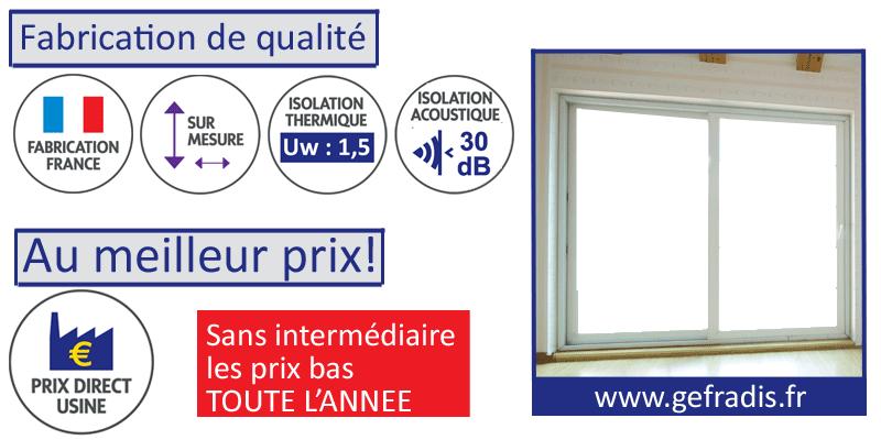 Le prix d'usine est l'astuce pour acheter une fenêtre française sur-mesure au meilleur prix