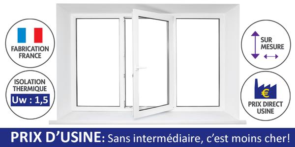 Une fenêtre PVC sur-mesure au meilleur prix grâce au prix d'usine