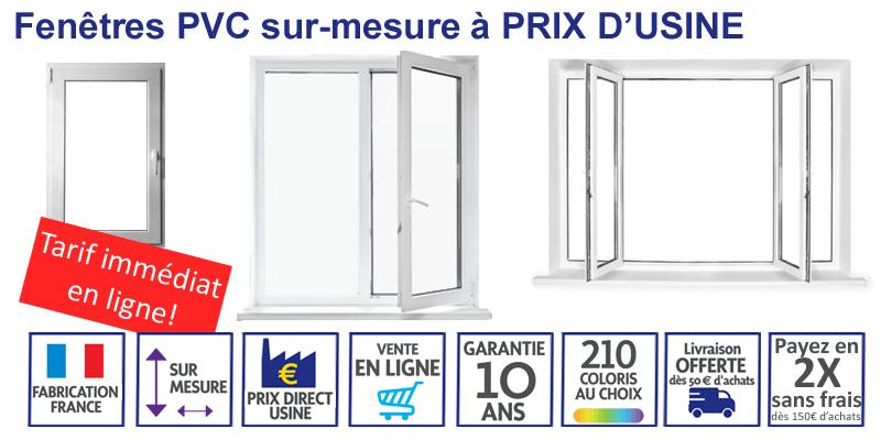 Fenêtres PVC sur-mesure