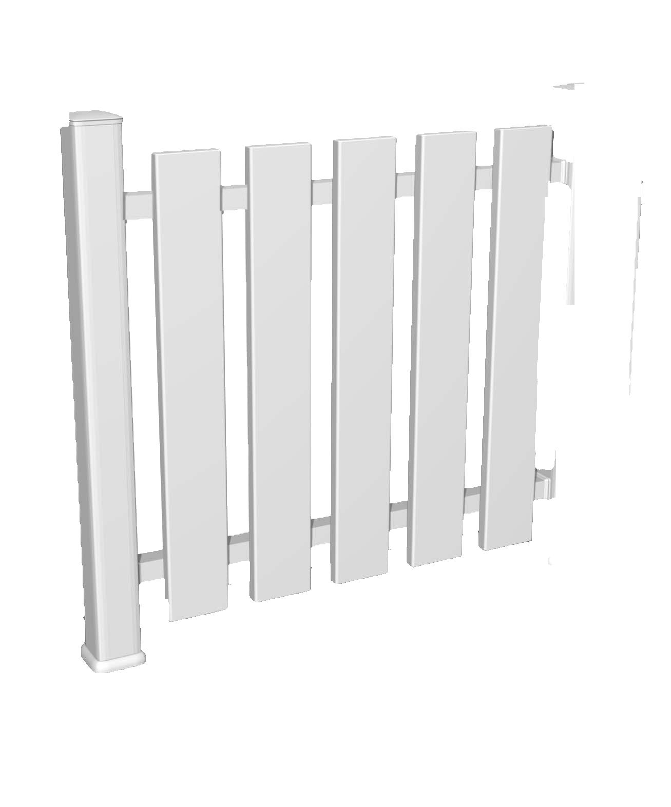 Notre module de clôture à barreaudage vertical de 92 cm de haut
