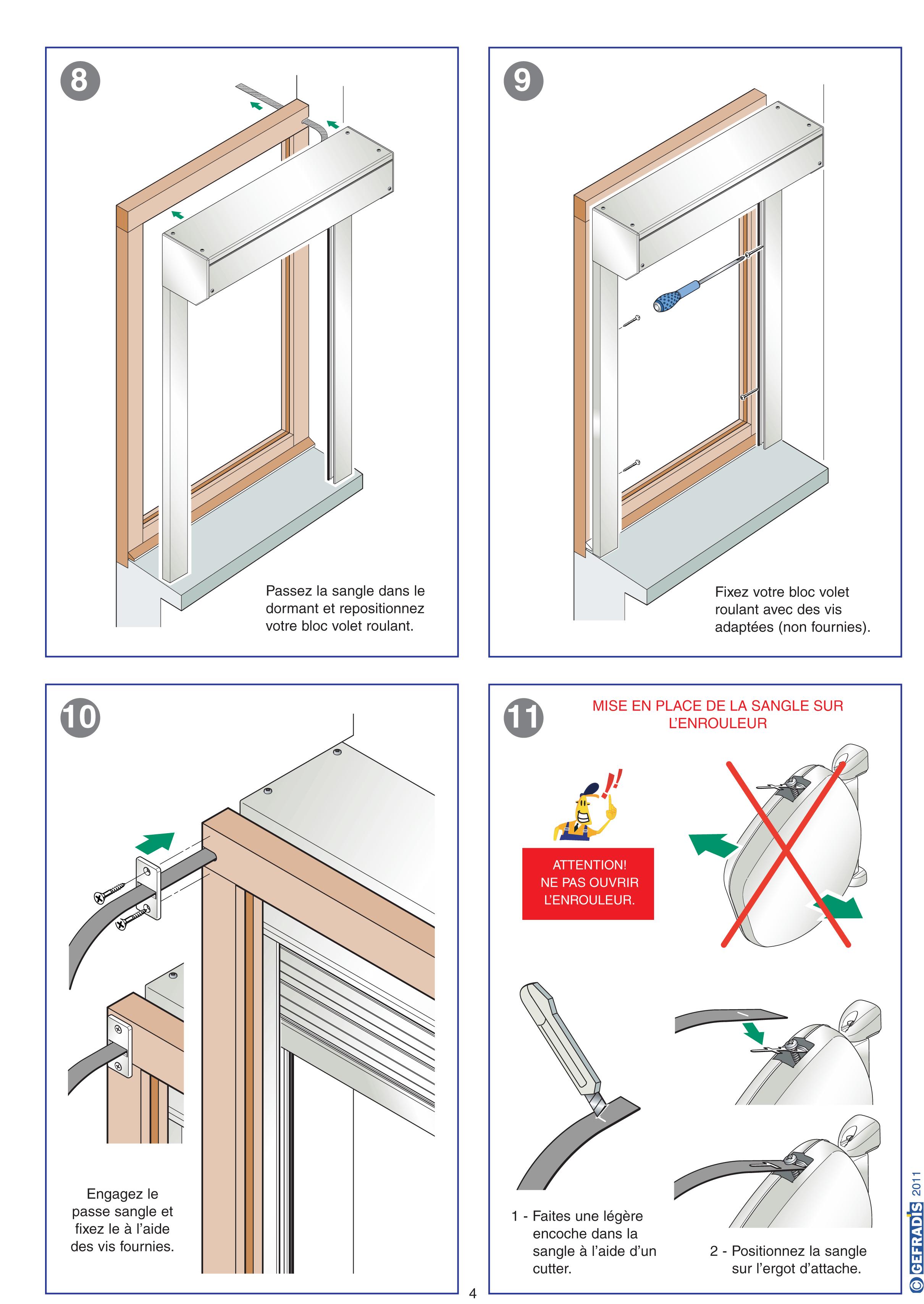 Aide à la pose de volet roulant rénovation page 4