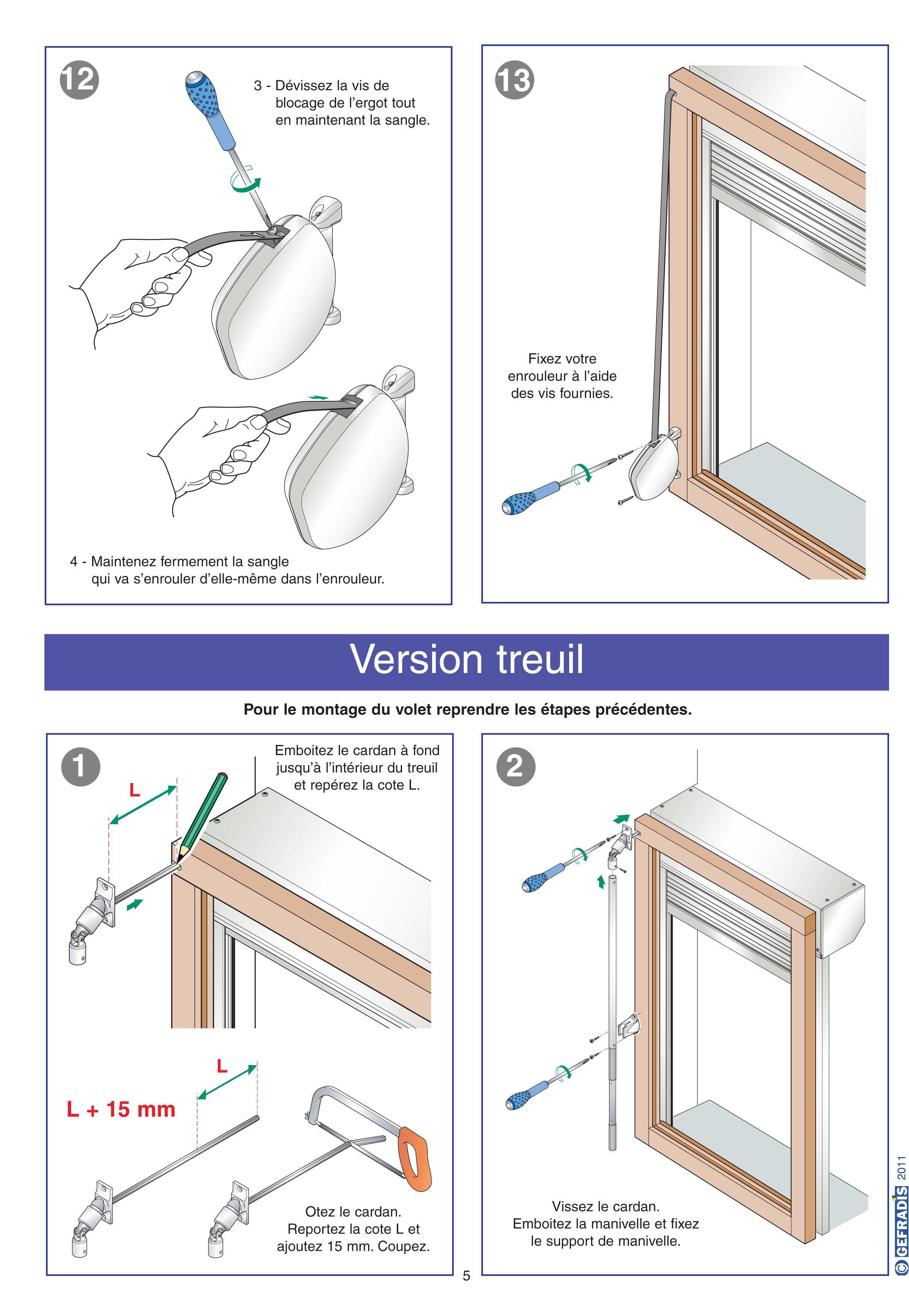 Aide à la pose de volet roulant rénovation page 5