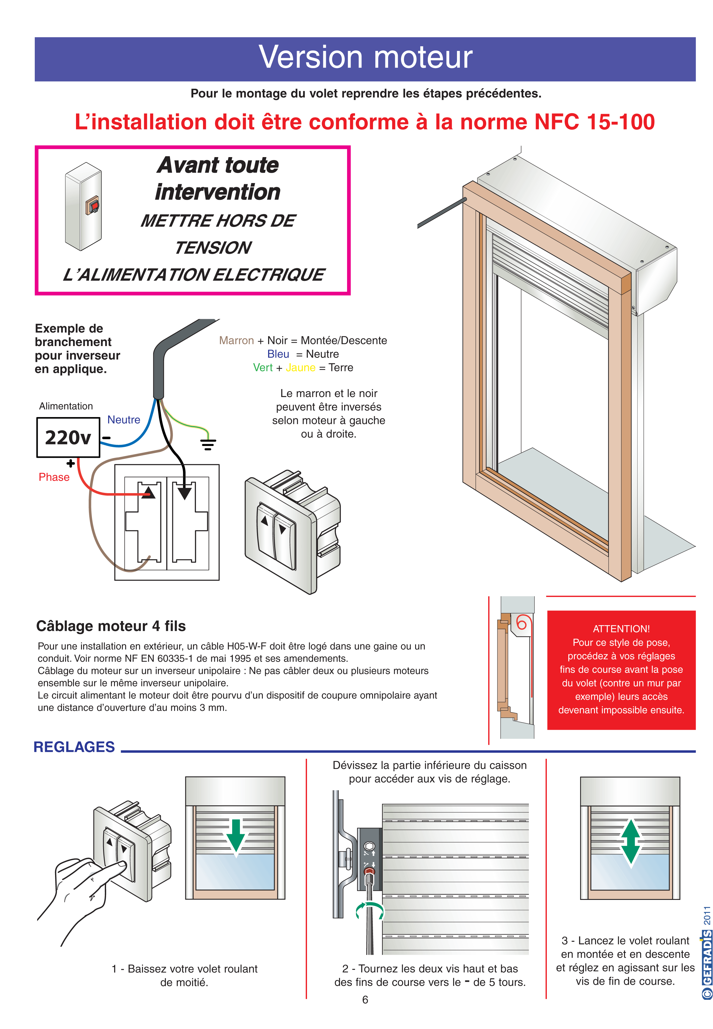 Aide à la pose de volet roulant page 6