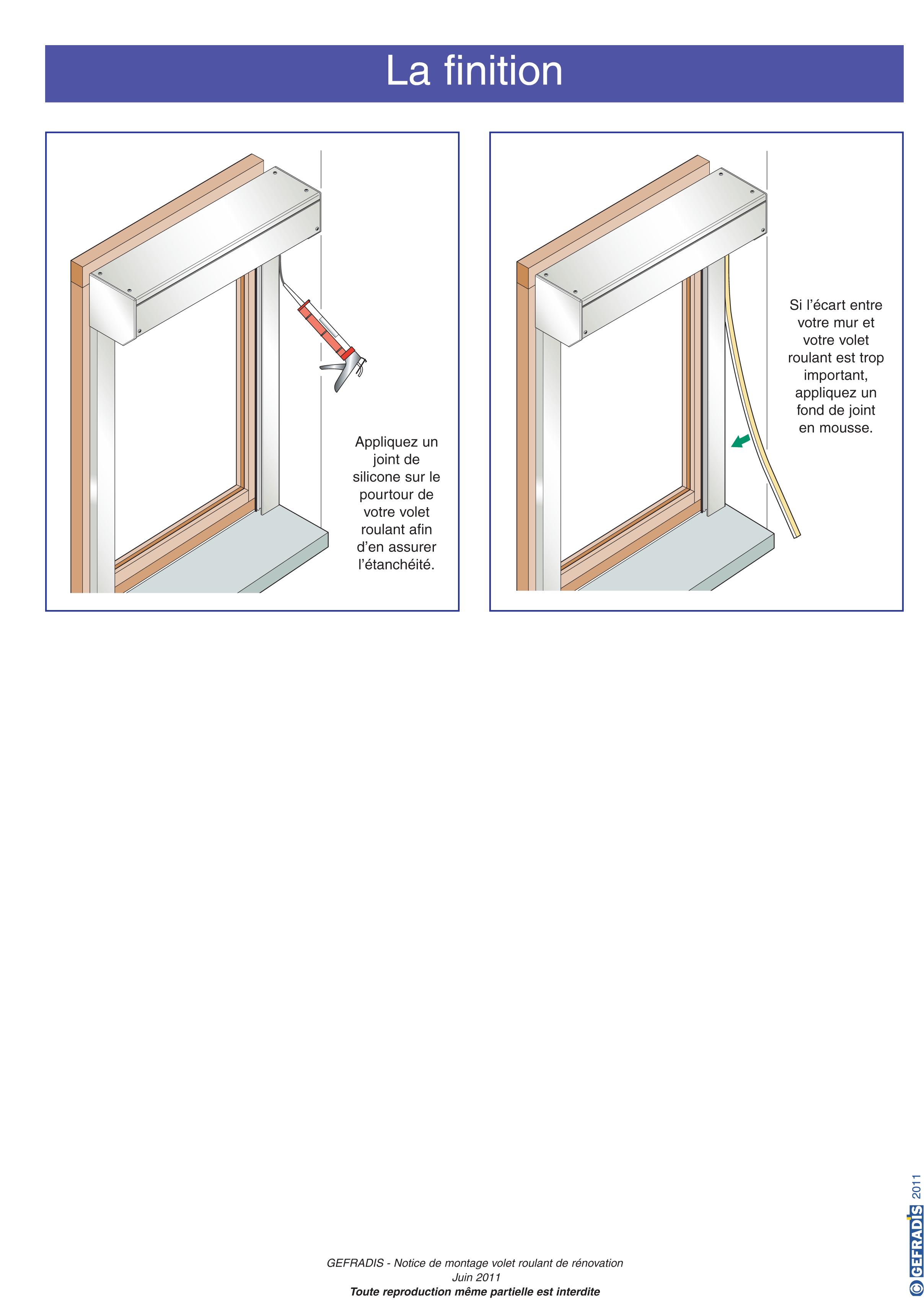 Aide à la pose de volet roulant rénovation page 7