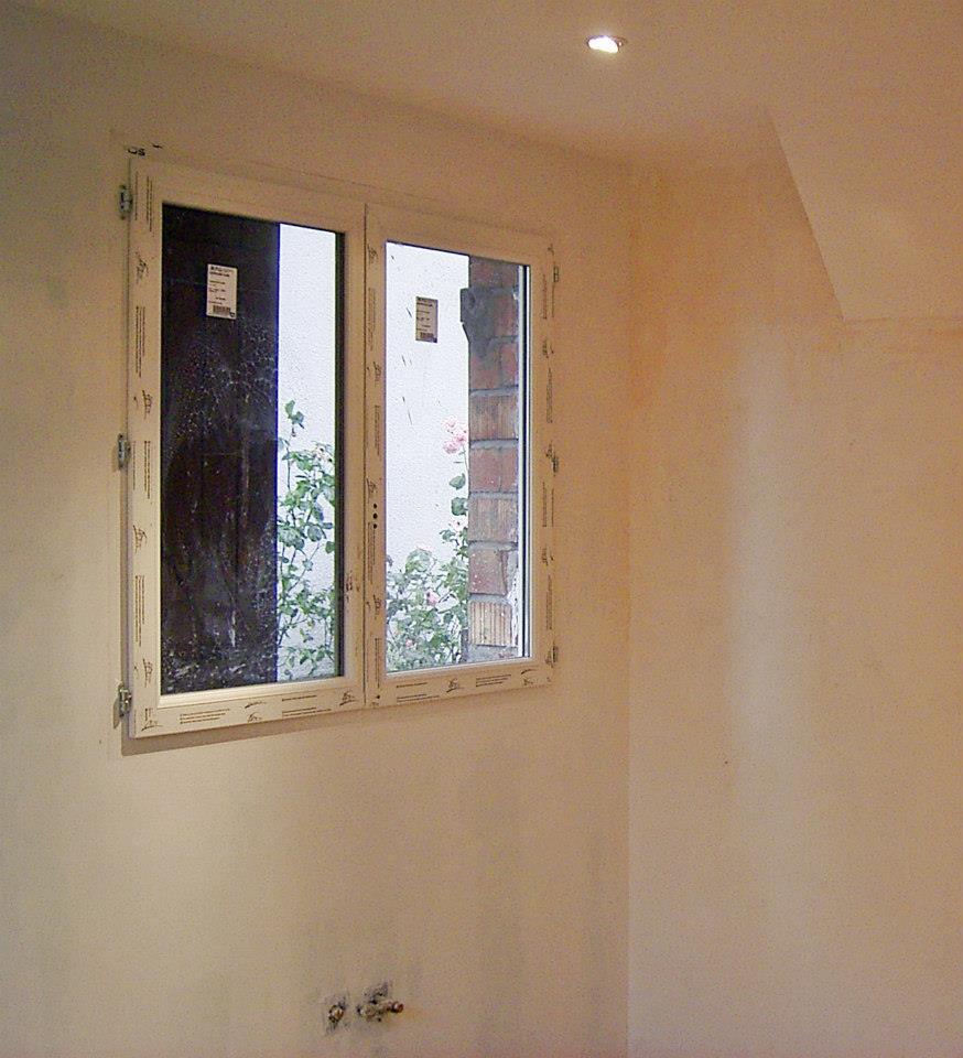 Fenêtre PVC 2 ouvrants vue intérieur