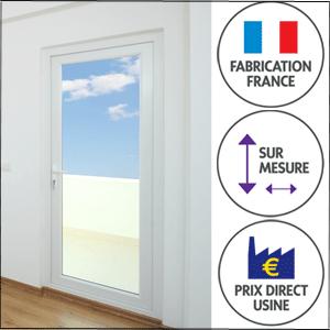 La porte-fenêtre PVC Gefradis est de fabrication française, sur-mesure et à prix d'usine