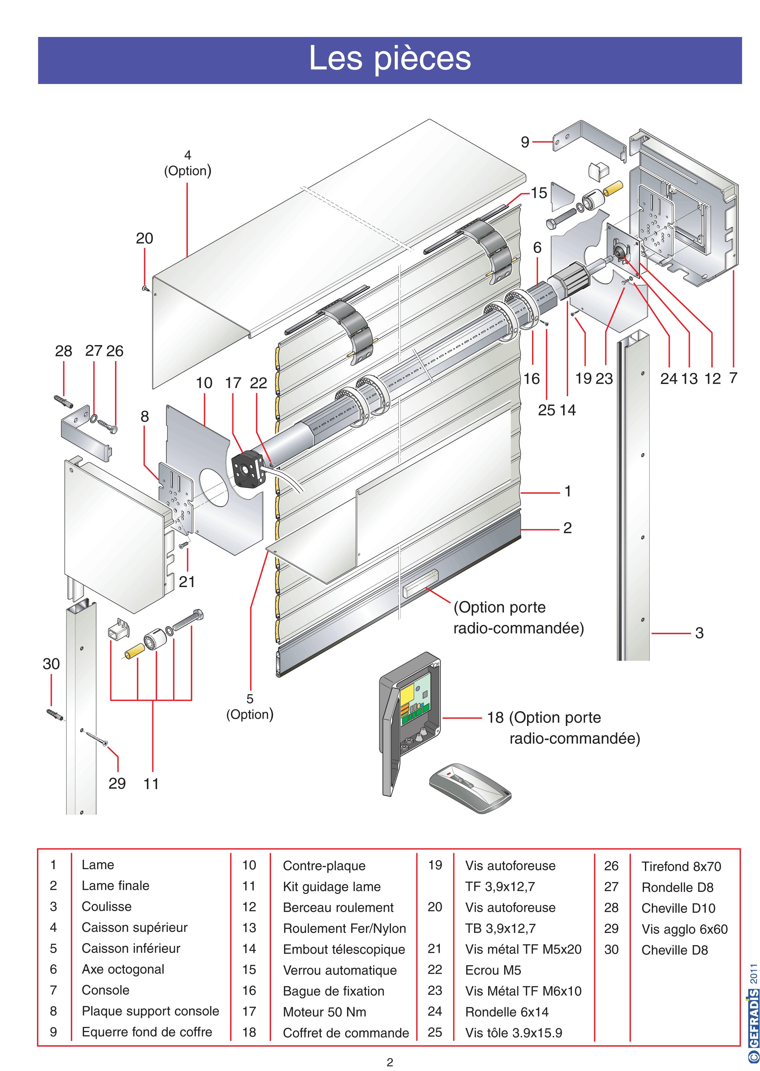 Porte de garage enroulable avec coffre Gefradis